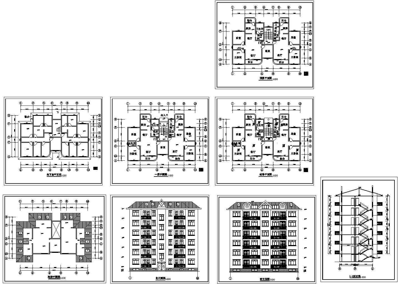 某市住宅建筑设计方案图图片1