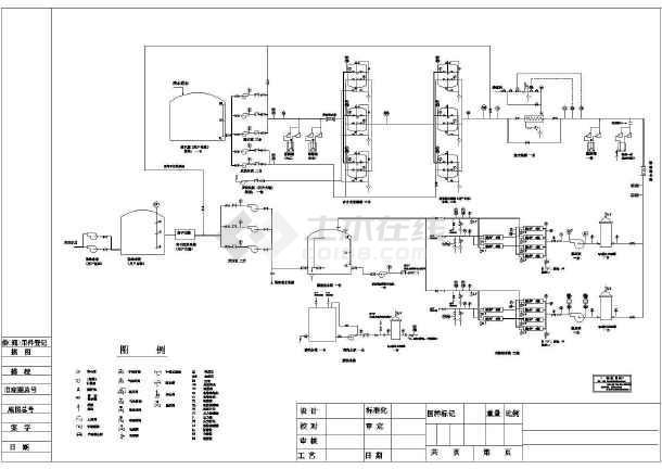 某地区水厂纯水处理工艺图纸-图一