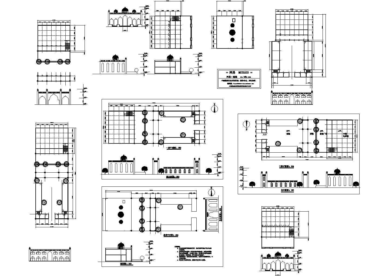 清真寺精美建筑施工设计方案图(含效果图)图片1