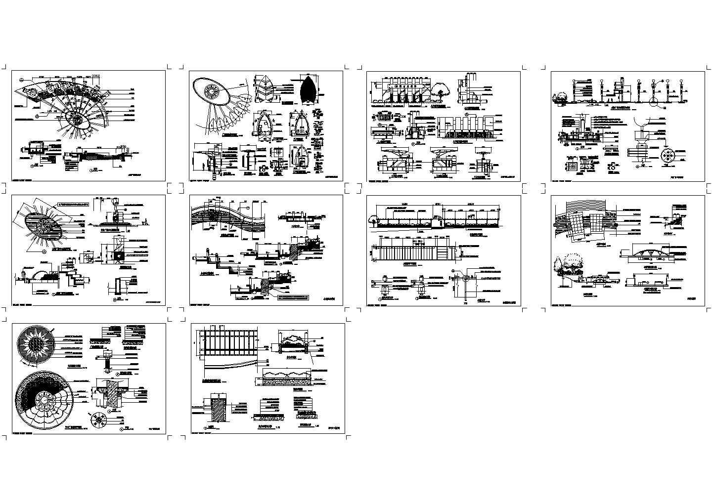 太阳广场景观设计施工图全套图纸图片1