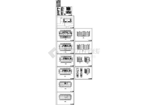 5324平米五层钢框架结构办公楼毕业设计(含计算书pdf、建筑、结构图)-图一