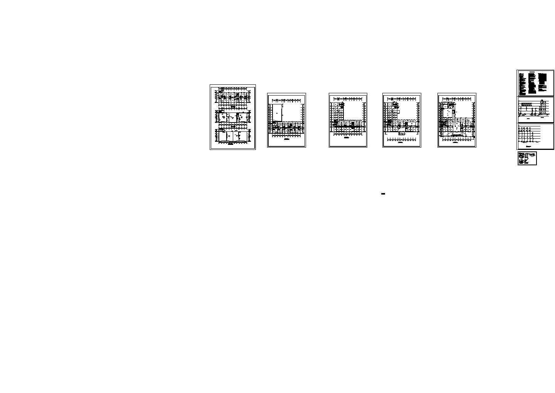 [湖南]饲料厂车间及科技综合楼给排水消防施工cad图图片1