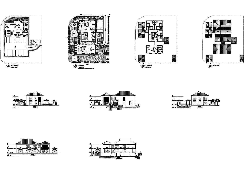 新加坡设计的二层豪华别墅cad图纸,共9张图片1