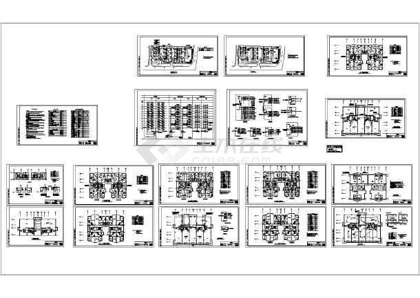 某十一层高层住宅电气施工图纸(三类防雷)-图一