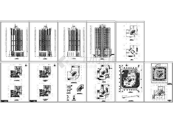高层商住楼电气设计图纸-图一