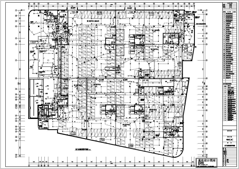 【石家庄】某简约风住宅楼地下室消防报警电气系统平面图图片1