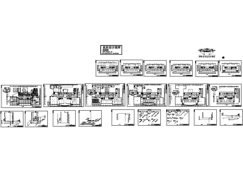 某机关高层办公楼给排水cad毕业设计图(节点详细)图片1