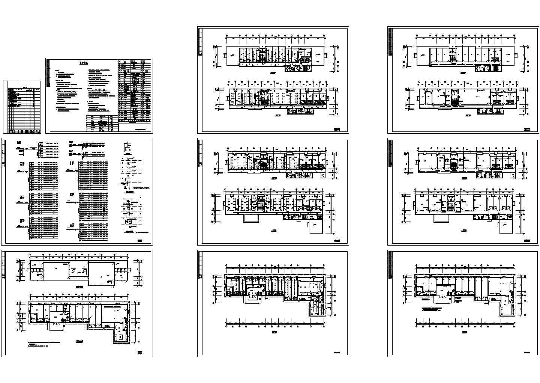 某3080平米五层办公楼电气施工CAD图纸图片1