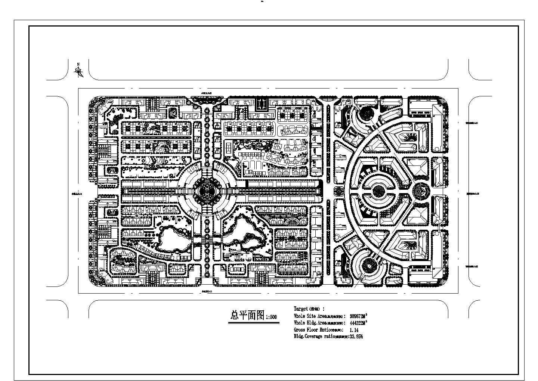 总用地389872平米多层小区规划设计总平面图图片1