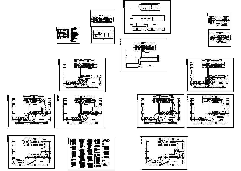 长114.44米宽79.54米局部6层医院综合楼电气施工图(含设计说明)图片1