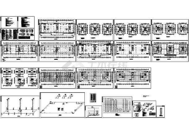 13层商住楼给排水消火栓喷淋系统建施cad图,共二十三张-图一