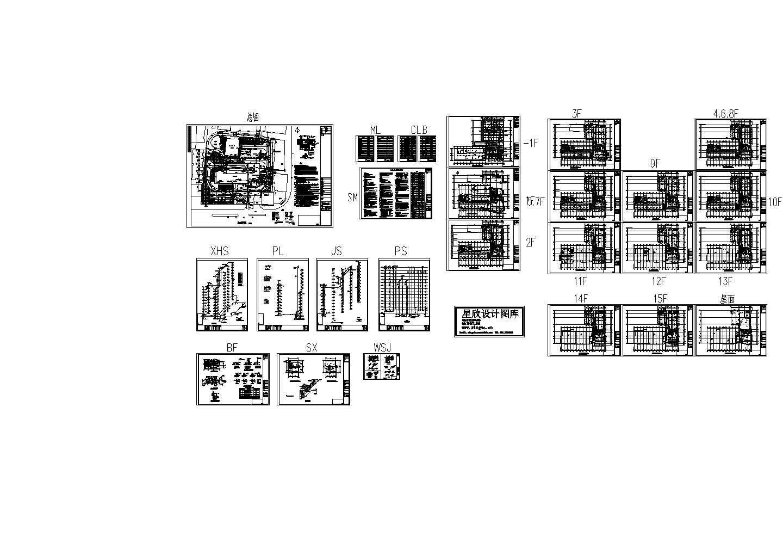 一套高层办公楼给排水图纸图片1