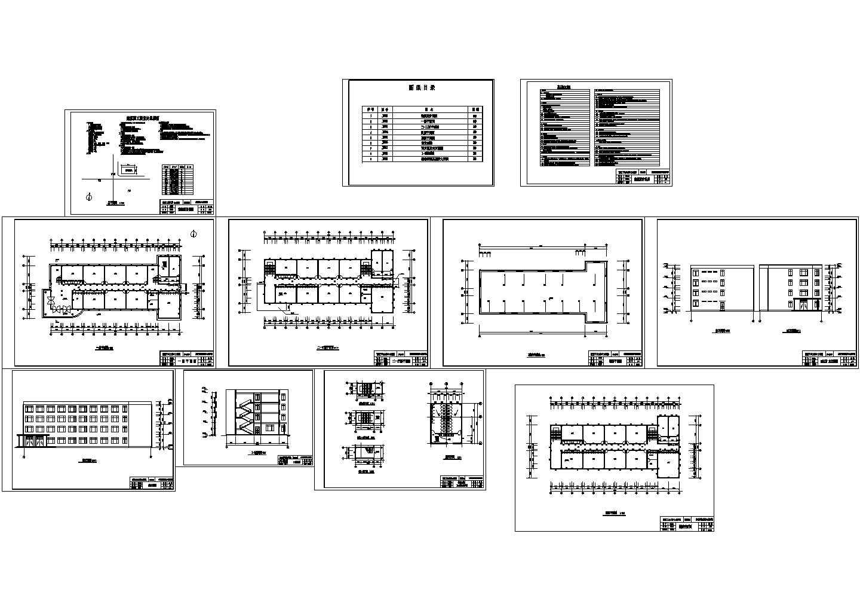 3200平米四层职教教学楼设计cad图,含设计说明图片1