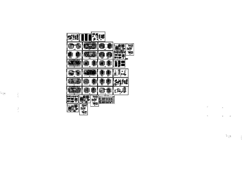 高层酒店给排水消防建施cad图,共三十三张图片1