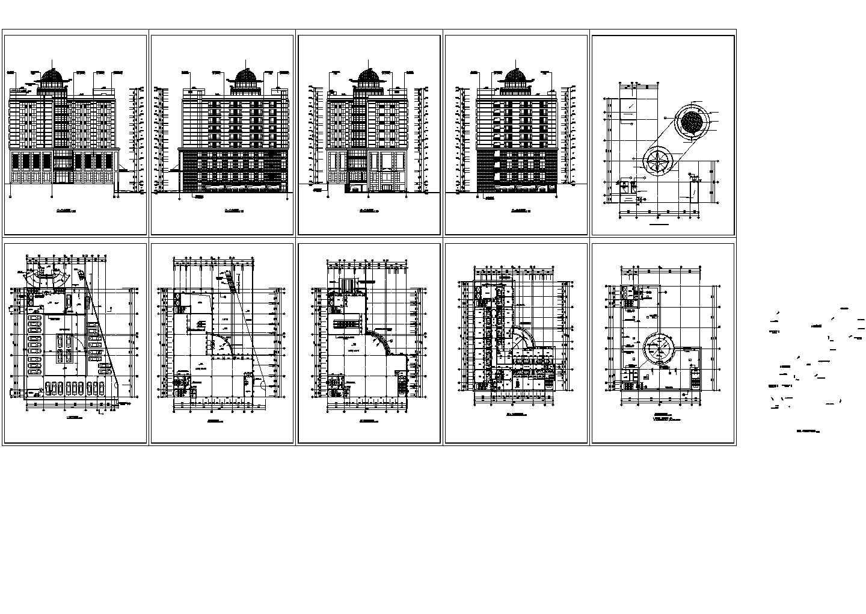 某十层酒店建筑设计方案图图片1