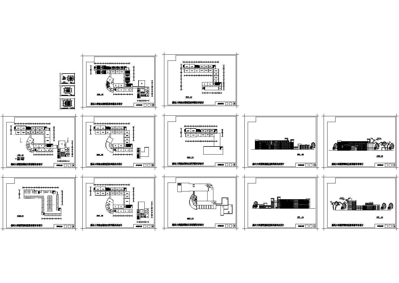 某大学教学楼总平面设计图图片1