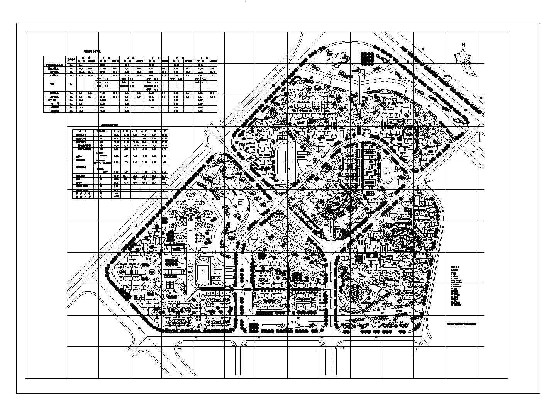 居住区规划总用地74.4ha综合小区总平面图图片1