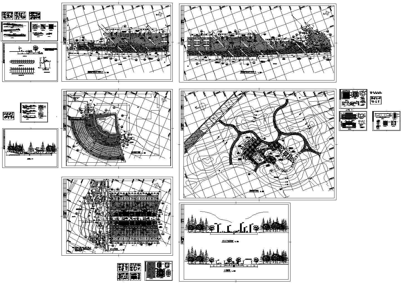 某市桥南公园设计施工图图片1