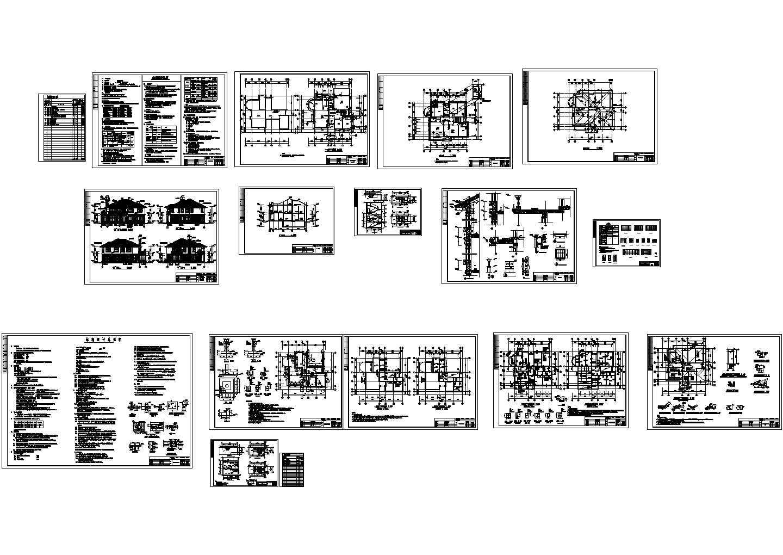 某项目别墅CAD施工图图片1