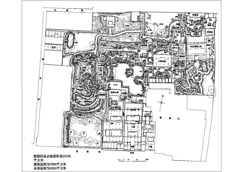 苏州园林之留园cad图纸图片1