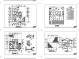 232.05平方米两层新农村别墅设计cad图,共7张图片1