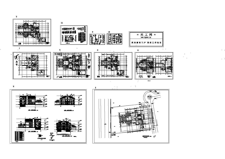 意大利式独立别墅cad设计图(共10张)图片1