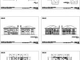 某地单体别墅设计cad图纸,共六张图片1