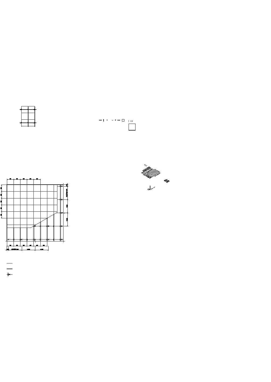 暗架金属方块吊顶顶面加透视图图片1