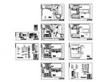 长93.88米 宽64.65米 地下1地上5层大学图书馆消防电气施工设计图(各层自动报警平面 自动报警系统图 防火卷帘及消防栓泵控制原理图)图片1