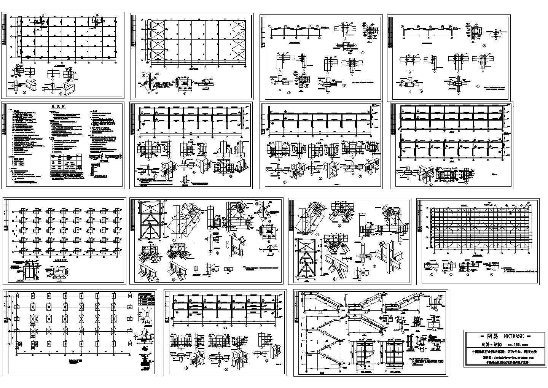 某三层商业用钢框架结构施工图(含设计说明)图片1