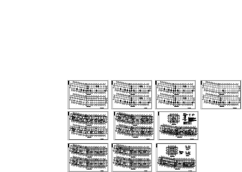 长65米宽10米6层框架住宅楼结构平面图图片1