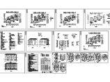 某三层砖混结构地中海风格别墅建筑施工图纸(含设计说明)图片1