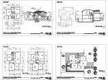 某地单体别墅庭院设计cad图纸,共四张图片1