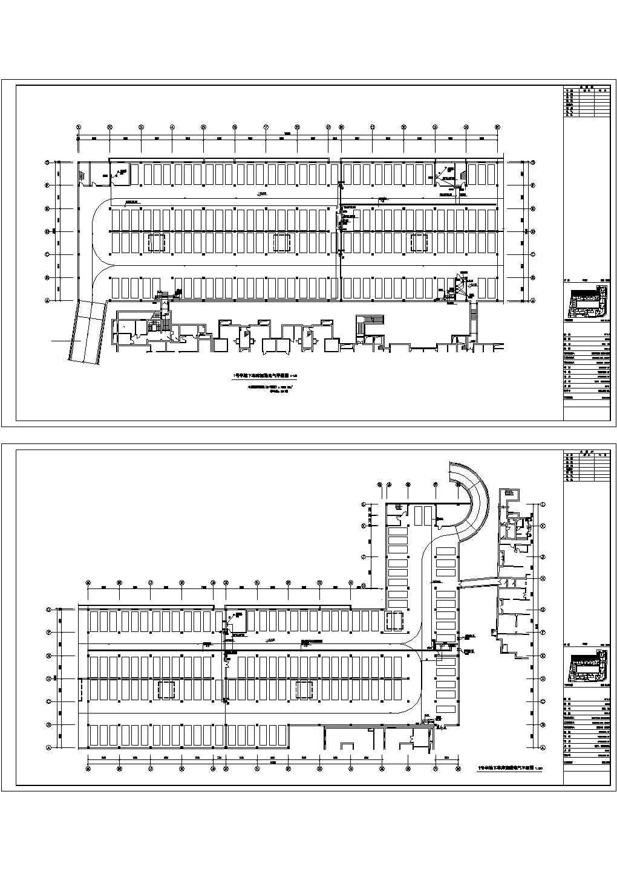 地下车库电气平面图设计图片1