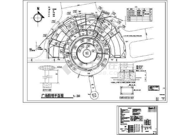 小区电气总图东方明珠广场景观照明-图一