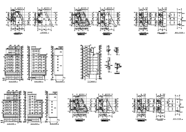 某市高层私宅建筑设计方案图图片1