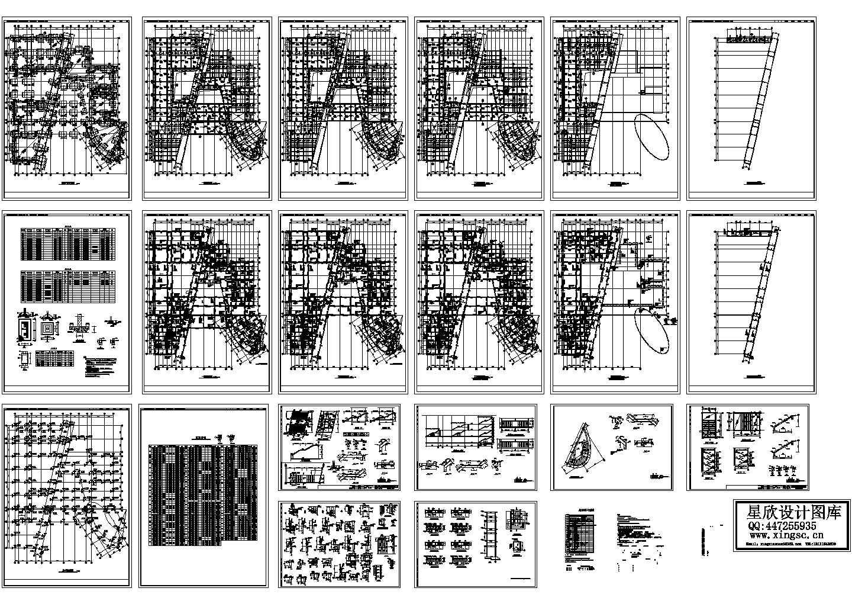 五层框架结构教学楼设计cad图,含设计说明图片1