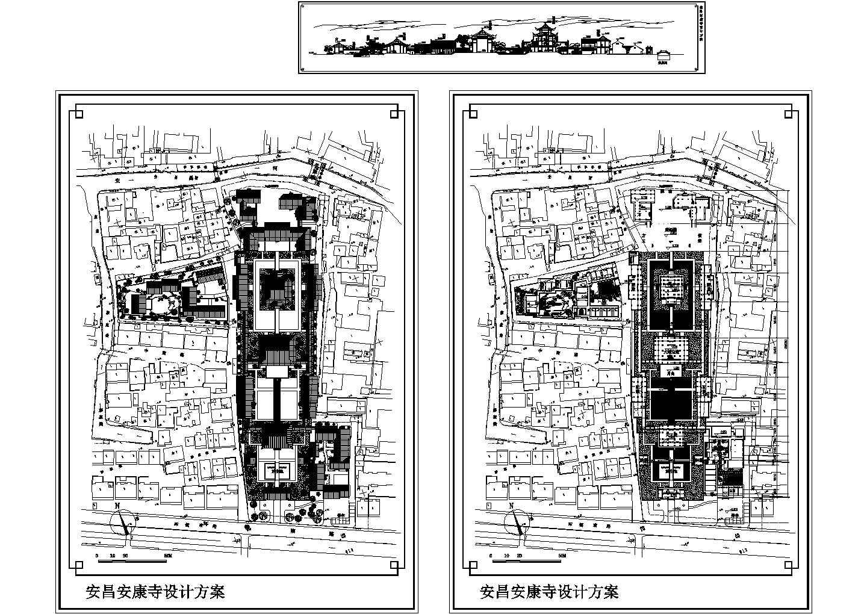某地区安昌寺建筑设计方案图图片1