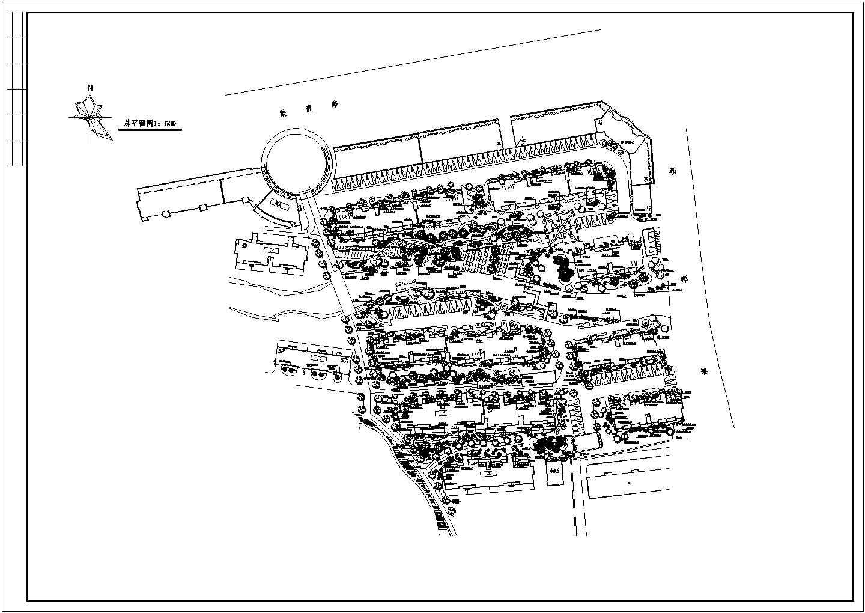 某花苑绿化建筑总平面图图片1
