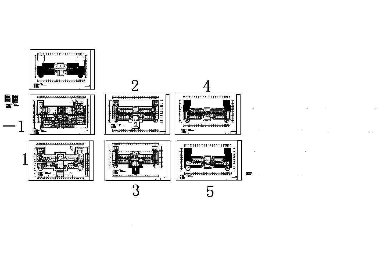 某酒店火灾自动报警系统设计图cad(含设计说明)图片1