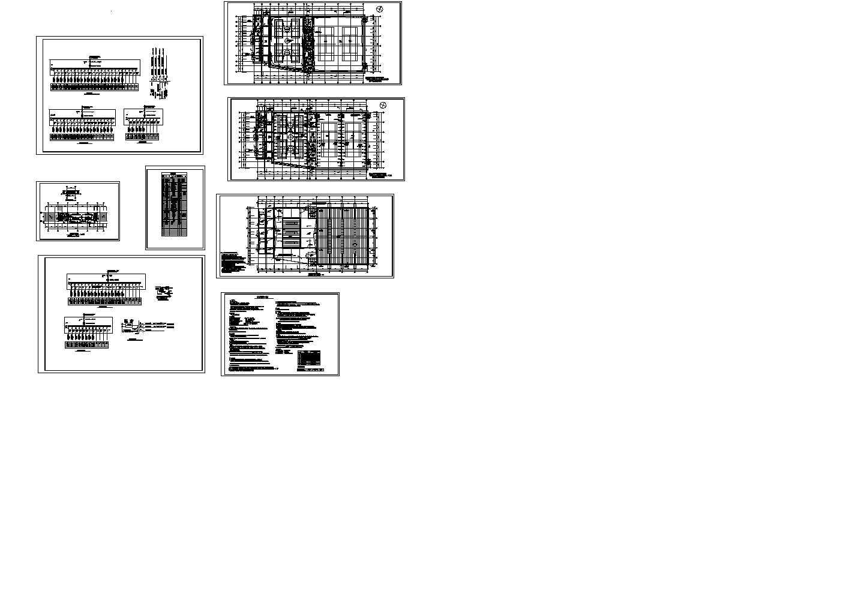 老年活动中心体育馆单体建筑设计电气图图片1