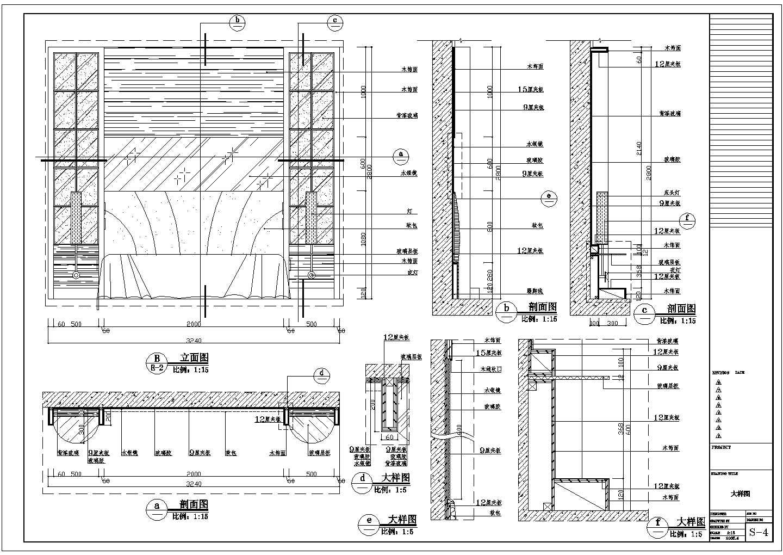 客房背景墙装饰CAD设计详图图片1