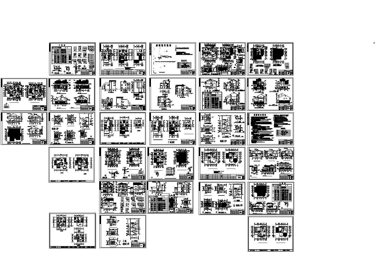 翡翠山庄别墅cad图纸,含设计说明图片1