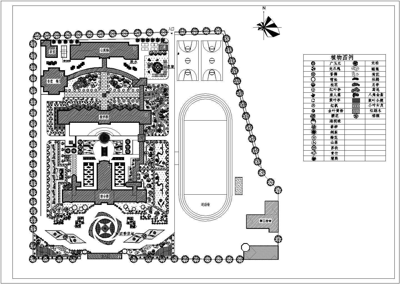 校园绿化规划设计平面图图片1