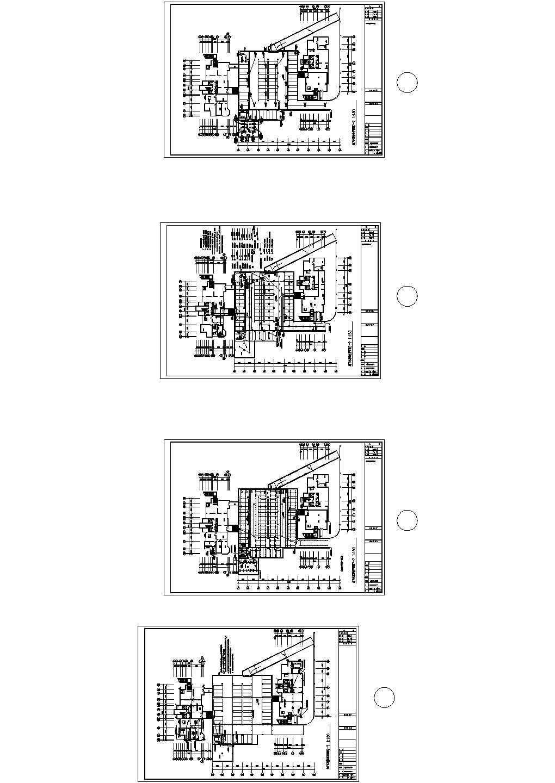 某大型商场地下停车场电气照明设计CAD图图片1