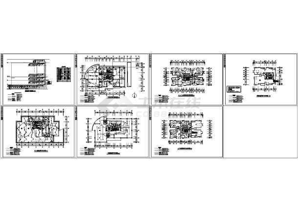 某二十四层高层住宅电气消防施工图纸-图一