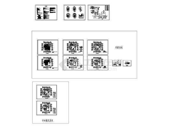 地二层别墅地暖及新风系统设计全套施工图-图一