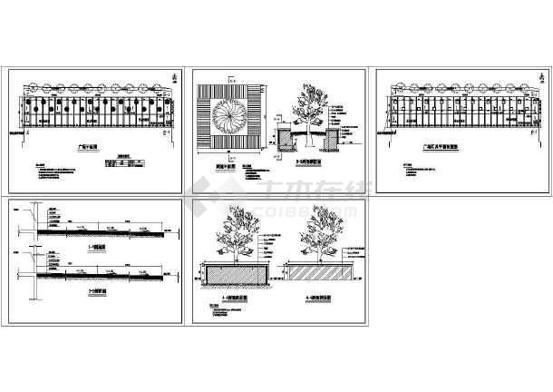 某商业街小型广场园林设计施工图-图一