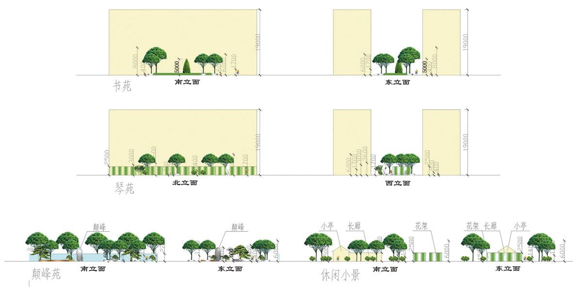 广西钦州中学环境景观设计方案图片1
