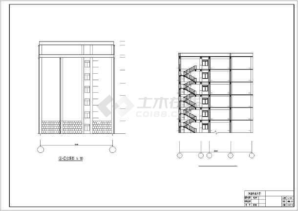 8500平米主体七层裙房六层框架办公楼毕业设计(含计算书、开题报告、建筑结构图、PKPM模型)-图一